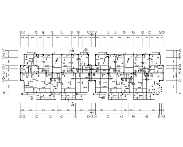异形柱七层住宅混凝土结构施工图(CAD)