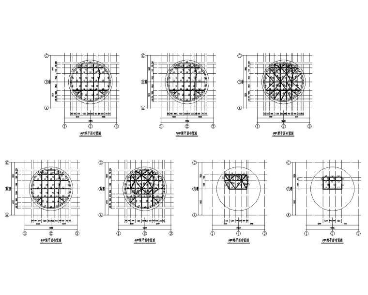 某雕塑钢结构骨架结构施工图(CAD)