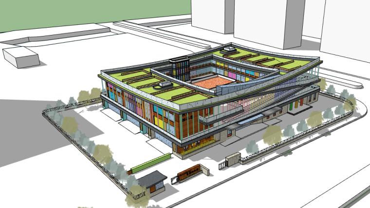 苏州工业园区二实小西昱园幼儿园建筑方案