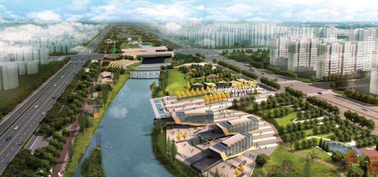 [郑州]错落生态河道水系景观设计方案
