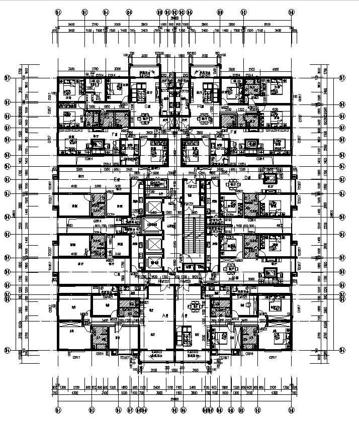 18标准层平面图