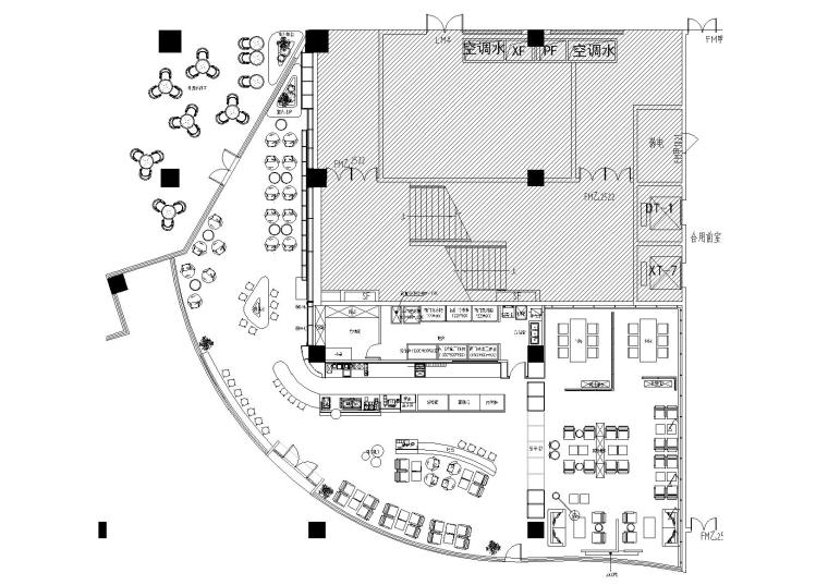 [江苏]南通赛格广场猫屎咖啡店装饰施工图