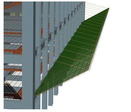 商用高层钢结构施工安全专项方案-安全外挑网搭设示意图