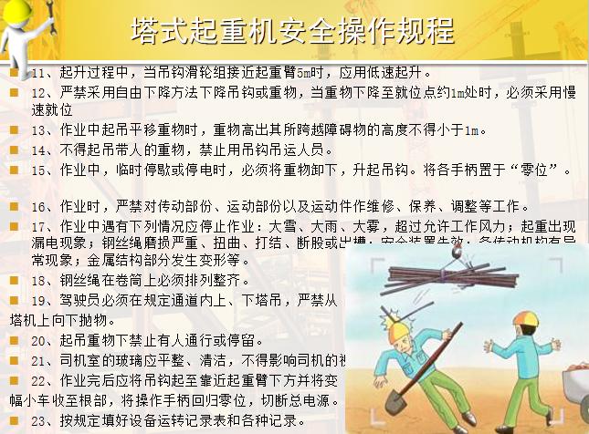 50塔式起重机安全操作规程