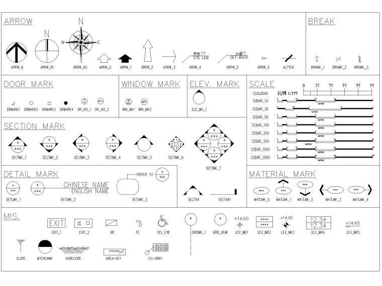 建筑室内园林综合CAD图块(全)