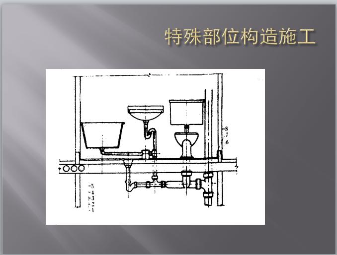 卫生器具节点防水构造