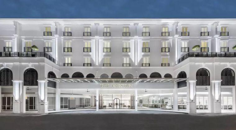 热带白色伊甸园,槟城普雷斯蒂奇酒店。