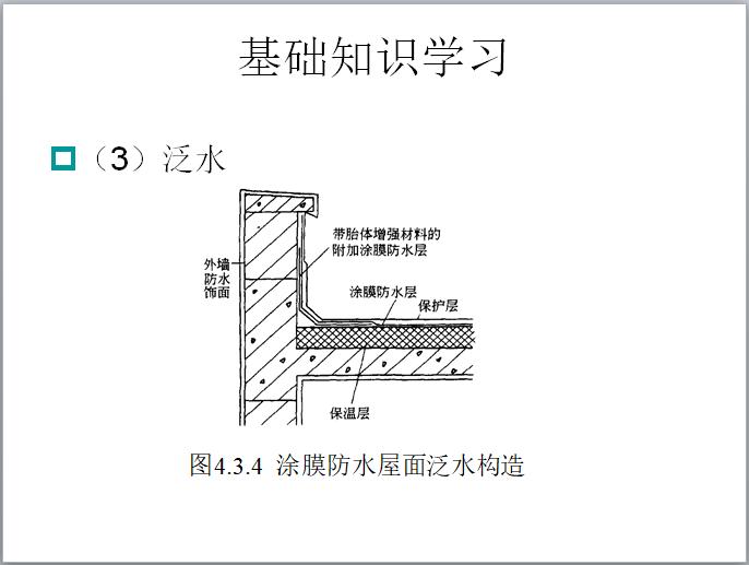 涂膜防水屋面泛水构造