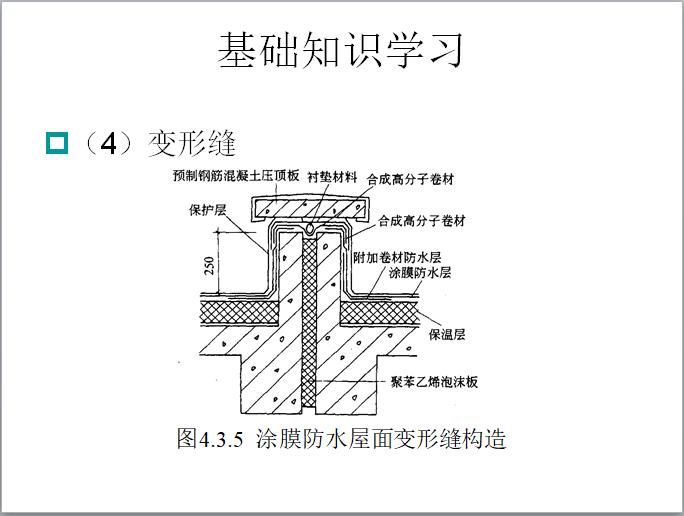 涂膜防水屋面变形缝构造