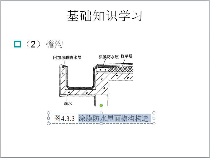 涂膜防水屋面檐沟构造