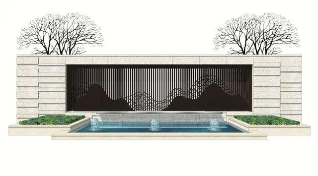 新中式山水墙意向图直接拿来用_24
