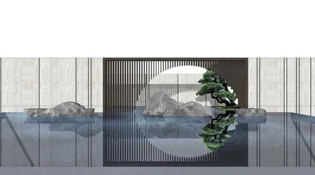 新中式山水墙意向图直接拿来用_21