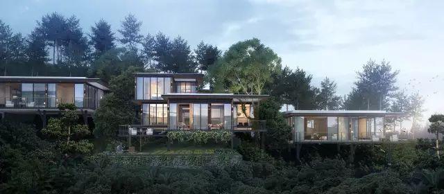 """全新的、极简美学——""""玻璃盒子""""住宅"""