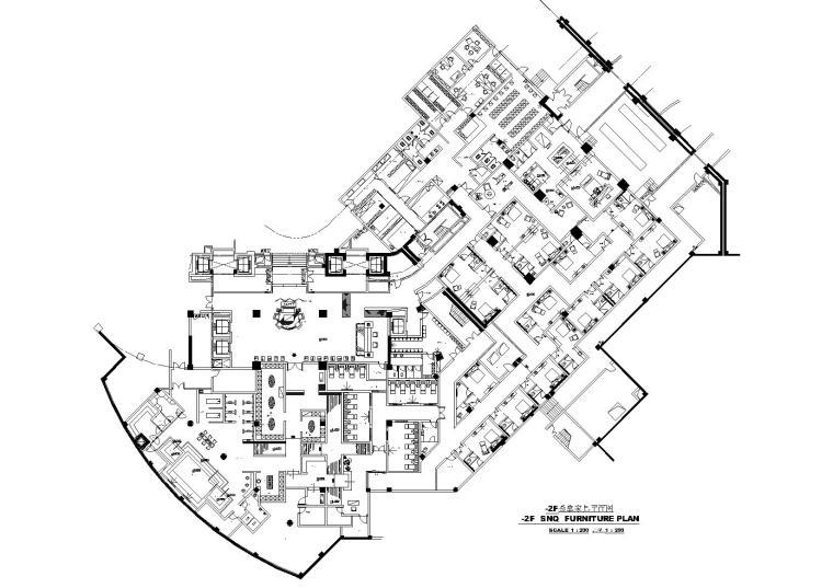 [杭州]五星级酒店桑拿区装饰工程项目施工图