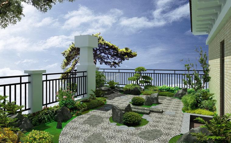 日式风格庭院设计案例效果图