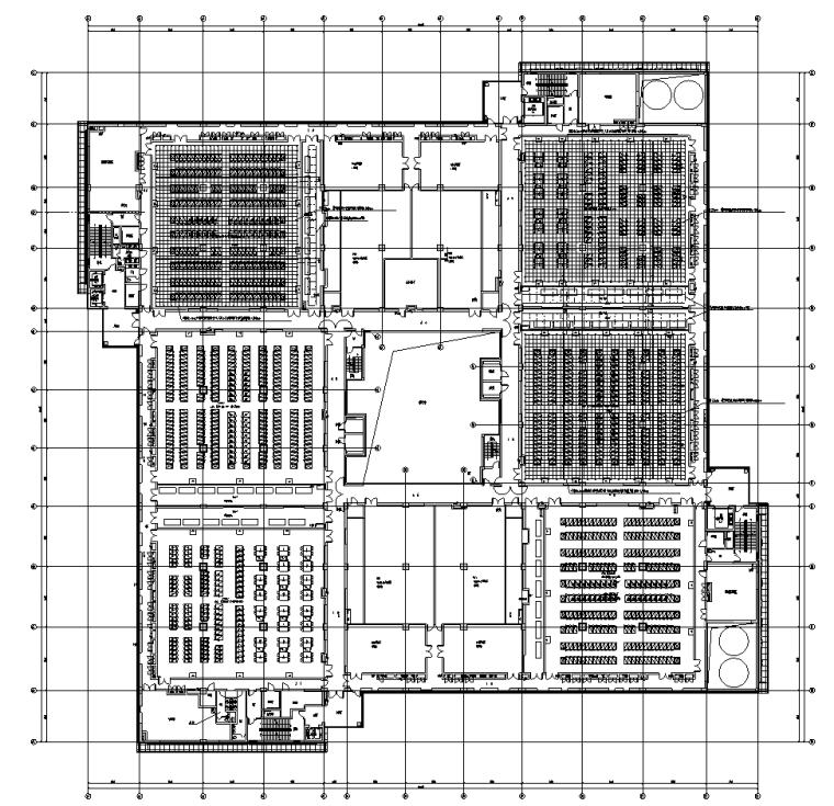 上海某银行数据中心机房全套电气施工图纸