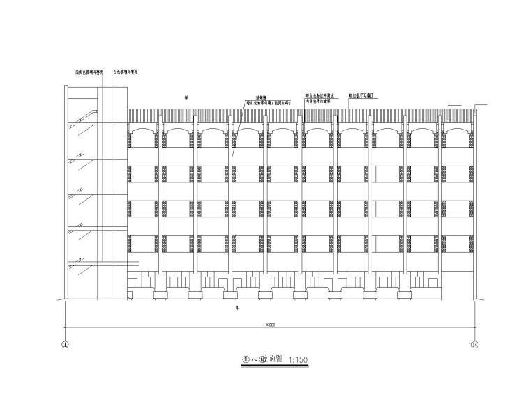 集美大学教学楼全套建筑设计图纸