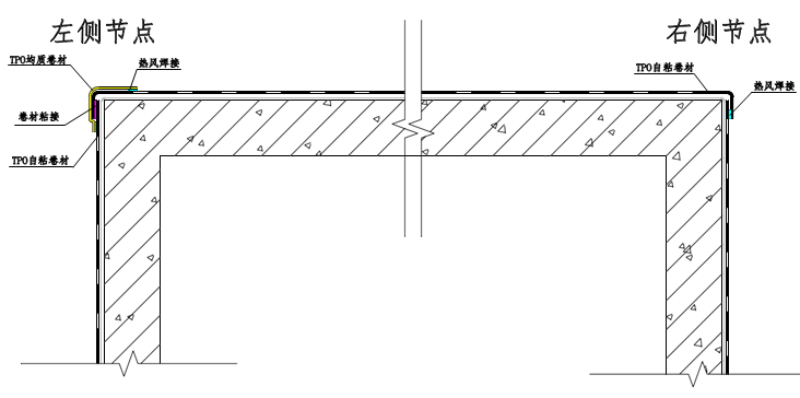 顶板与立墙交接节点