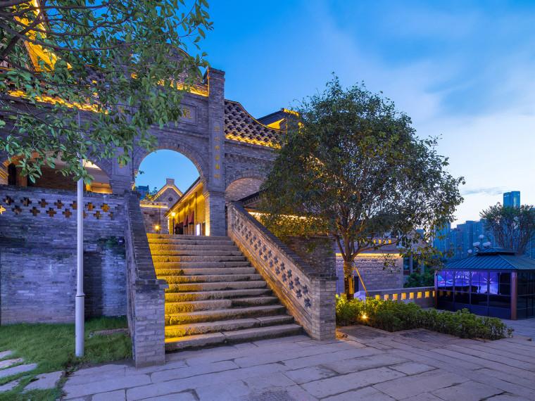 慈云寺米市街龙门浩历史文化街区景观