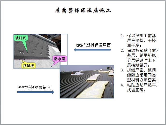 屋面整体保温层施工