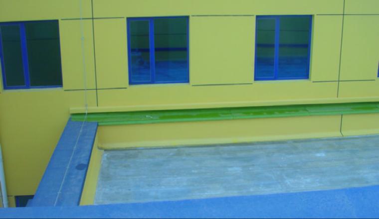 35高低跨沉降缝处的防水收头做法