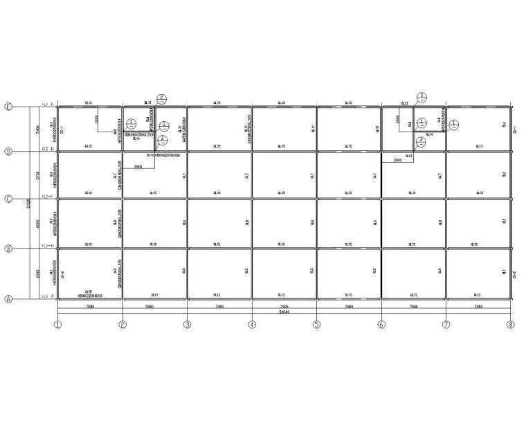 三层商业楼钢结构框架施工图(CAD)