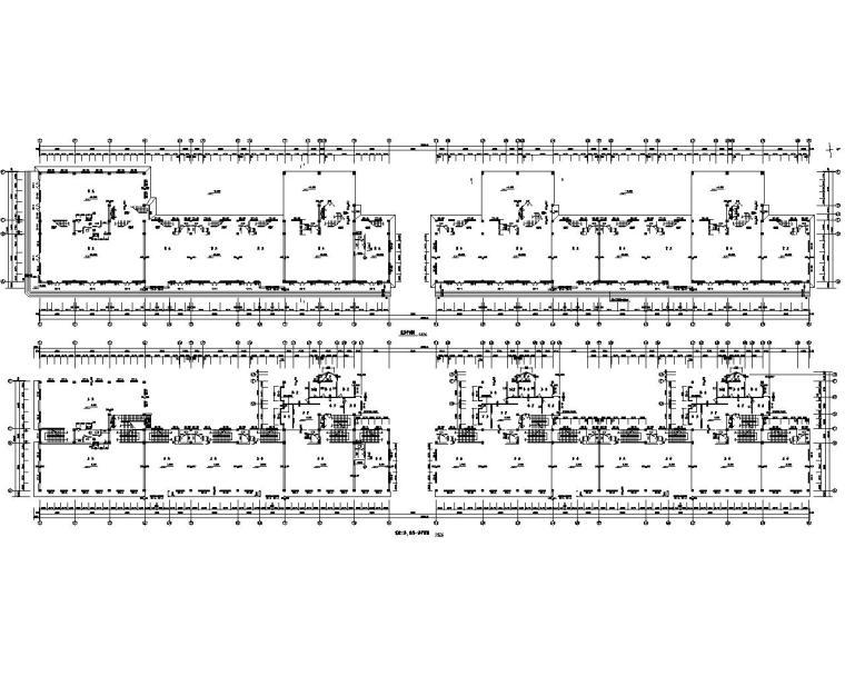 七层商住建筑混凝土施工图(cad含建筑图)图片
