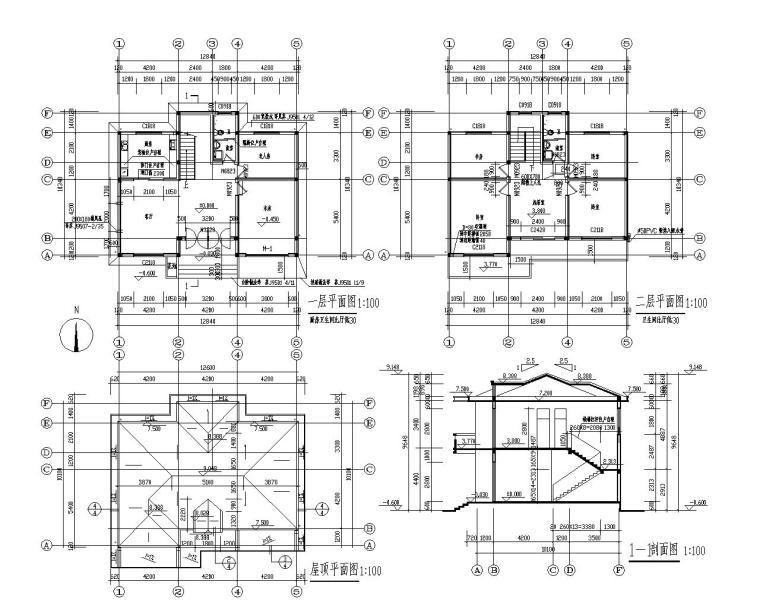 二层农村自建房砖混结构施工图(CAD)