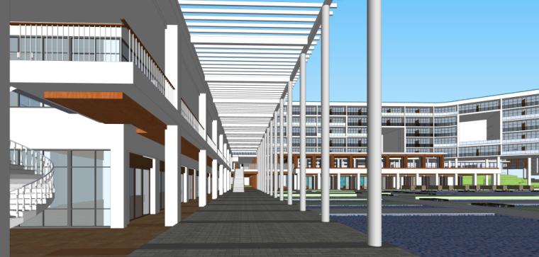 海南南燕湾万豪山地度假酒店建筑模型设计 (3)