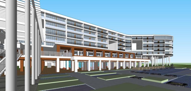 海南南燕湾万豪山地度假酒店建筑模型设计 (6)