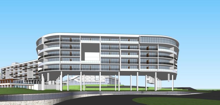 海南南燕湾万豪山地度假酒店建筑模型设计 (9)