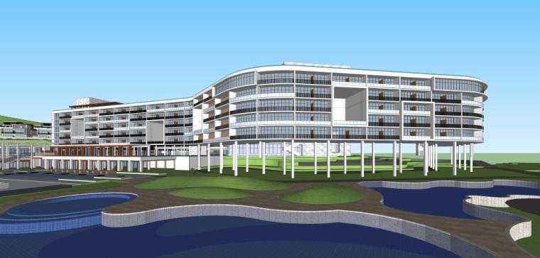 海南南燕湾万豪山地度假酒店建筑模型设计 (8)