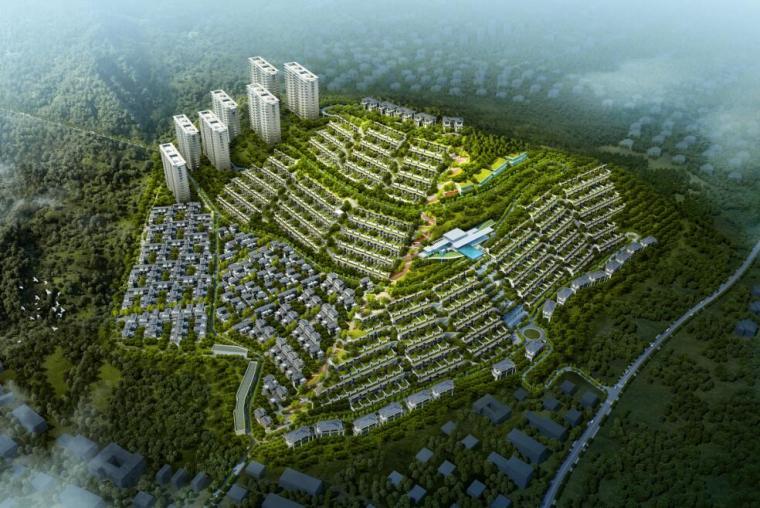 现代风高端山地豪宅+洋房+别墅建筑方案设计