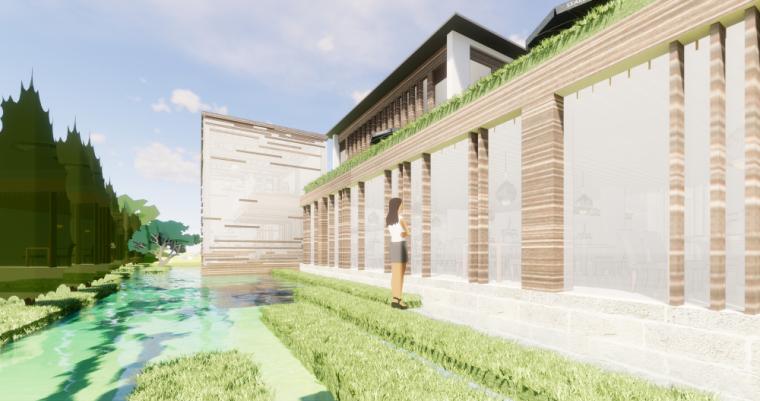 太湖农庄山地中式民宿改造模型设计 (2)