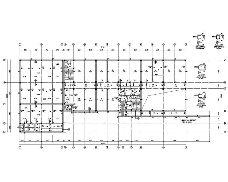 学校四层教学楼框架结构施工图(CAD)