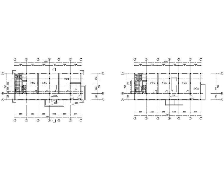 三层混凝土结构办公楼施工图(CAD含建筑)
