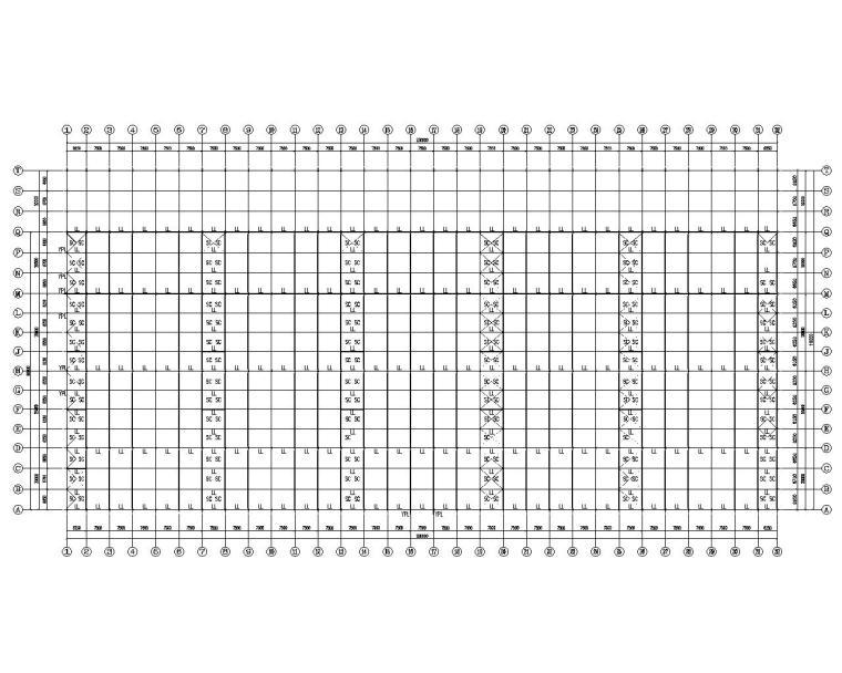 某物流仓库结构设计施工图(CAD)