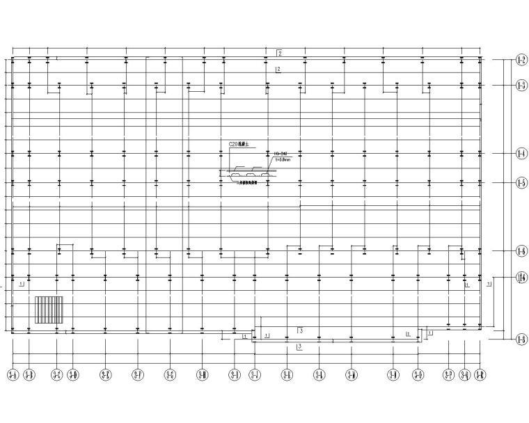 二层钢结构多层超市施工图(CAD)