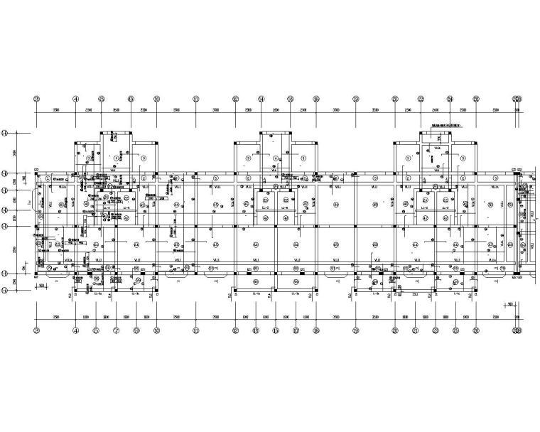 六层商住楼底框架结构设计施工图(CAD)