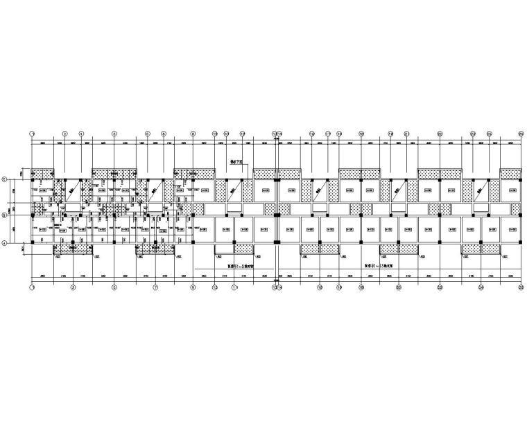 六层框架结构办公楼设计施工图(CAD)