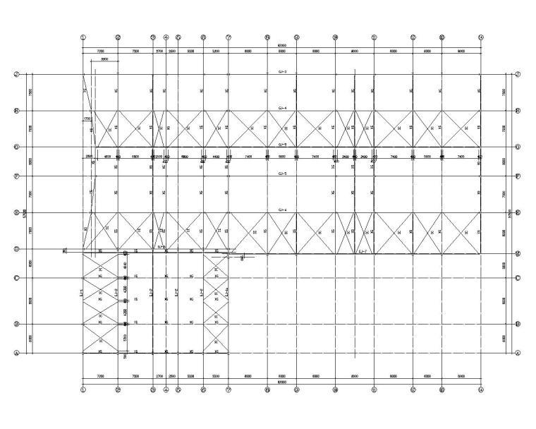 某汽车4s店展厅结构施工图(CAD)