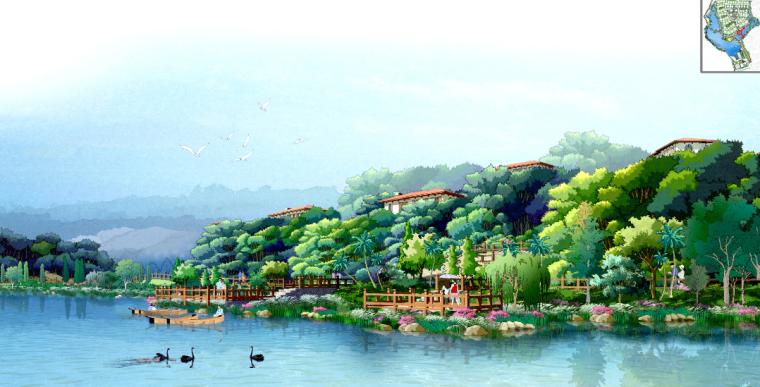 [广东]原生态商业及沿湖别墅区景观深化设计