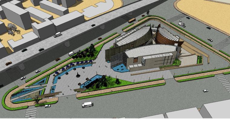武汉城市规划博物馆su模型