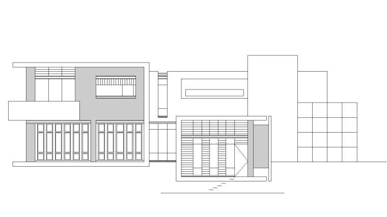 图纸格式:jpg,天正7,cad2000          内容简介:山地别墅建筑施工图