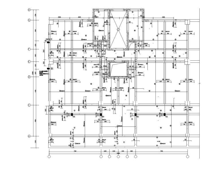 17层框架剪力墙高层住宅结构施工图(CAD)