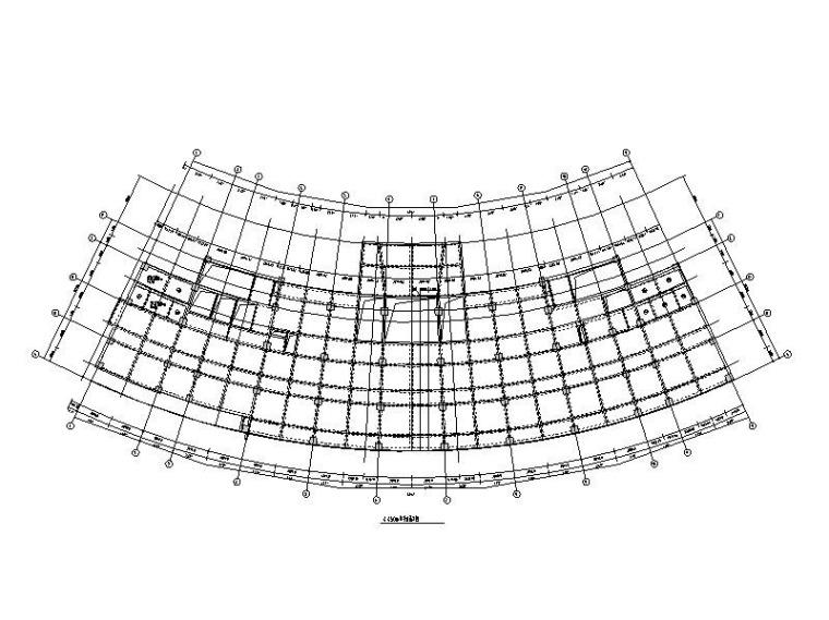 11层弧形中医院综合楼框架结构施工图