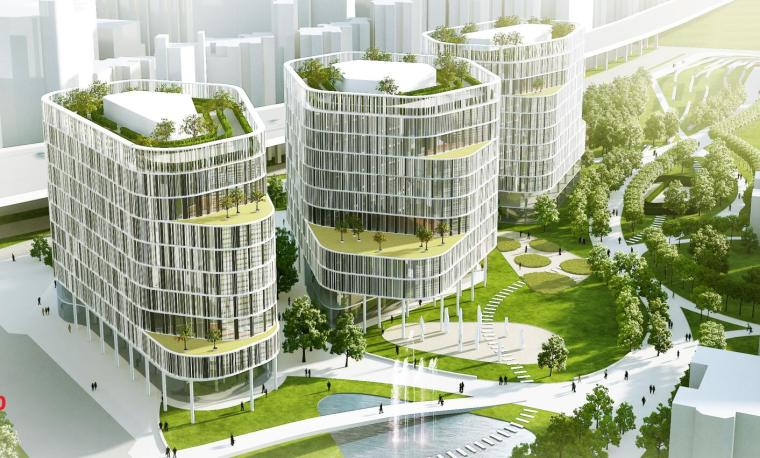 流动城市上海南站商务区建筑方案设计
