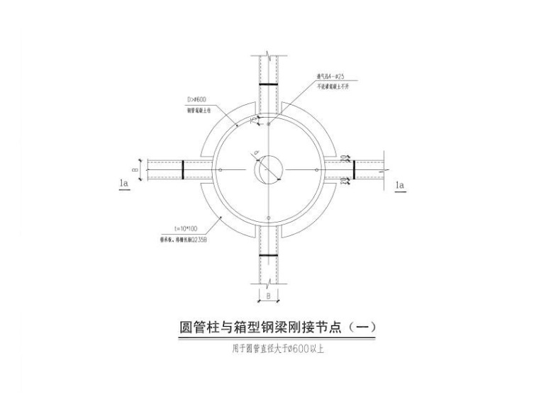 圆管柱与箱型钢梁刚接节点PDF