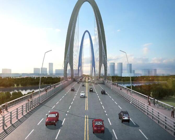 大桥演示动画