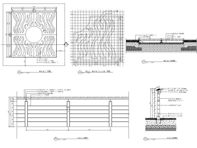 CD963-964 树池篦子、栏杆详图-布局1